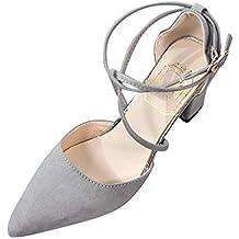 ... el corte ingles. Luckycat Zapatos para Mujer-Sandalias de Tacón Ancho Elegantes Novia Boda Nupcial Vestido de Fiesta