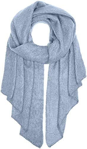 PIECES Damen PCPYRON Long Scarf NOOS Schal, Blau Brunnera Blue, One Size