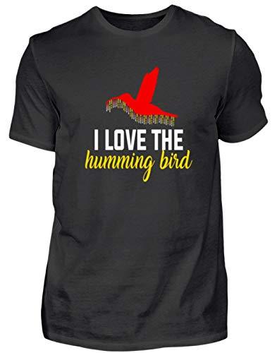 Generic Hochwertiges Herren Shirt - Ich Liebe Den Kolibri - I Love The Humming Bird - Schlichtes und Witziges Design -