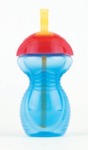 Munchkin 011368 Click Lock - Botella de agua con pajita (300 ml), surtido: colores aleatorios