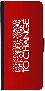 Snoogg Everybody Wants Todesigner Protective Flip Case Cover For Moto-G