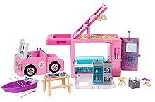 Barbie- Camper dei Sogni 3 in 1, Playset con 3 Veicoli e 50 Accessori Giocattolo per Bambini 3+ Anni, GHL93