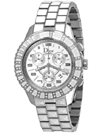 Christian Dior CD114311M002 - Reloj de pulsera Mujer, Acero inoxidable, color Blanco