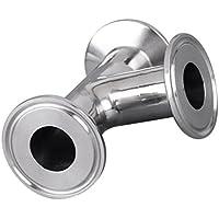 MagiDeal Tubo de 3 Vías Cerradura Sanitaria de Resistente a Altas Temperaturas Procesamiento de Alimentos Cerveza Farmacia - Tubería OD 38mm