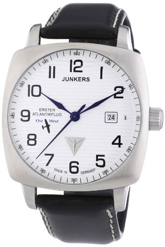 Junkers Men's First Atlantic Flight Design Fully Automatic Watch 64501 With Cushion Shaped Case