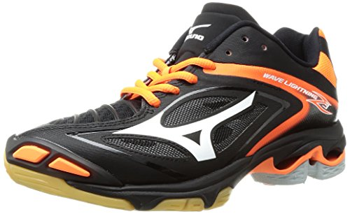 Mizuno Wave Lightning Z3 Volleyball Shoe - 10.5M - Black/White/Orange