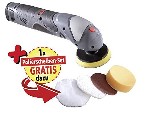 Westfalia Akku Polier- und Schleifmaschine 3 in 1 + GRATIS dazu 4-teiliges Pad-Set