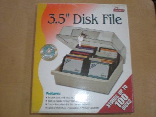 8,9cm Disk Storage Box Daten Fall Halter-Speichert bis zu 100Festplatten.-Disc Diskette PC Storage Daten Fall Tablett Datei