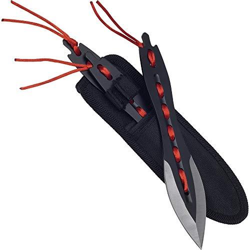 Haller 83205 Wurfmesserset 3-teilig Messer, Schwarz