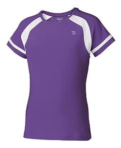 Wilson T-shirt de tennis enfant lavande/blanc S