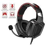 Asoon Gaming Kopfhörer Headset für PS4, PC, Xbox One Controller, Laptop Mac, Nintendo-Switch, professioneller Kopfhörer-Komfort Rauschunterdrückung mit Mikrofon (Adapter erforderlich)