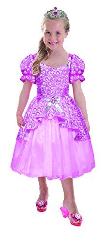 Schillerndes Barbie™ Prinzessinnen-Kostüm für Mädchen - 5 bis 7 (Zubehör Kostüme Barbie)