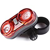 GreenClick Waterproof LED Bike Rear Light with 2 AAA Batteries