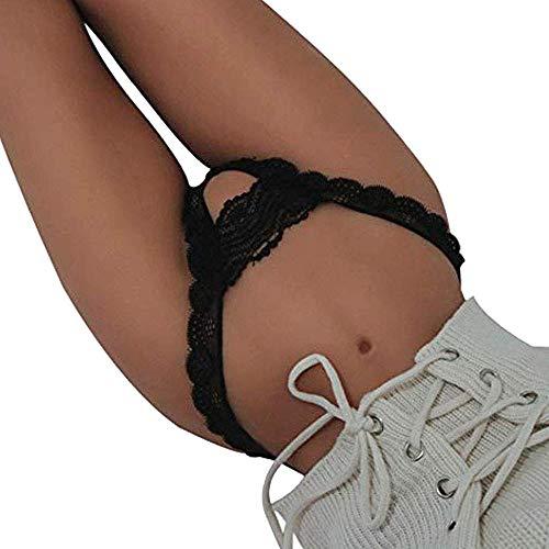 Damen Erotische Unterwäsche,DDUPNMONE Sexy Frauen Spitze Blumen Niedrige Taille Unterwäsche Höschen String Dessous Tangas