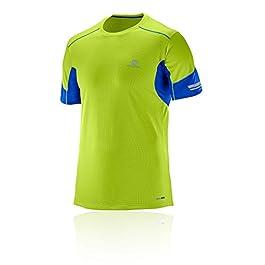 SalomonT-Shirt Sportiva da Uomo a Maniche Corte Agile, Mix Materiale Sintetico