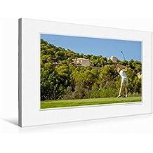 Premium Textil-Leinwand 75 cm x 50 cm quer Emotional Moment: Golf. | Wandbild, Bild auf Keilrahmen, Fertigbild auf echter Leinwand, Leinwanddruck (CALVENDO Orte)