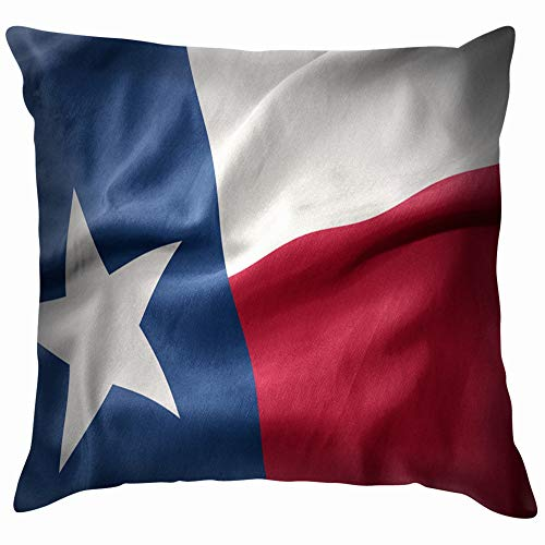 beautiful& Waving Colorful National Flag Texas State Throw Pillows Covers Accent Home Sofa Cushion Cover Pillowcase Gift Decorative 18X18 Inch