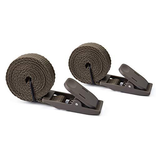 WingHome Befestigungsgurt Wildkamera Zubehör für Wild- und Überwachungskamera aus Nylon Befestigungsband mit 2 Karabinern, 2 Pack 180cm x 2cm
