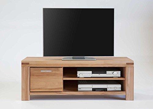TV Kommode Lowboard Kira Kernbuche massiv geölt B. 125cm 6871