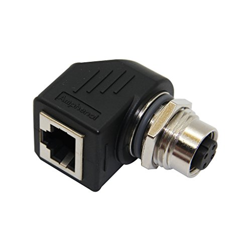 Spectra-adapter (RJS-12D04FF-RS8001 Adapter RJ45 socket, M12 female PIN4 angled 90°)