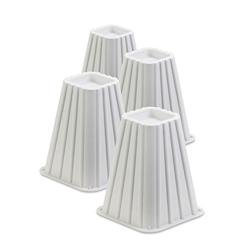 honey-can-do-sto-01006-stackable-bed-risers-ivory-plastic-75-inch-pack-of-4