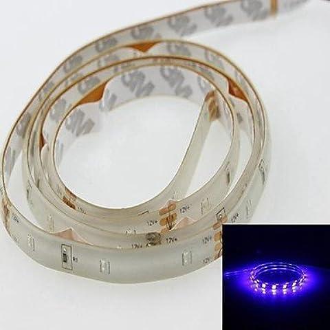 ASNSWDC® luz de tira 100cm 3014smd 60led banda azul 450-490nm 4w voltaje 12v ip65 impermeable de la tira de luz