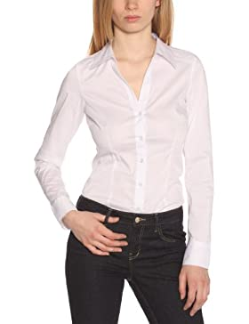 VERO MODA Damen Bluse 10069798 COUSIN L/S BODY G STR. SHIRT