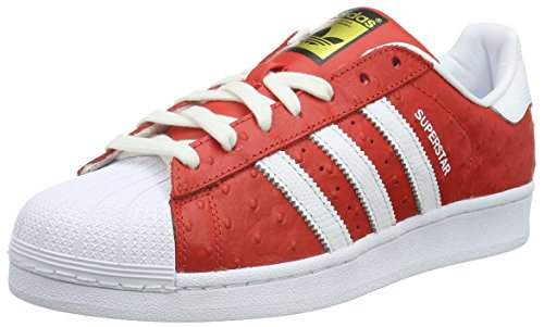 adidas Superstar Animal, Chaussures de Skateboard Homme Rot (Red/Ftwr White/Gold Met.)