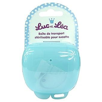 Luc et Léa Boîte de Transport Stérilisable Pour Sucette - Couleur : Bleu