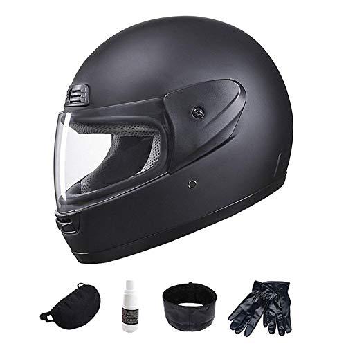 Beatie Casque Moto Modulable Intégral Casque Scooter avec HD Lentille Anti-Brouillard pour Adulte Homme Femme, Noir Mat de