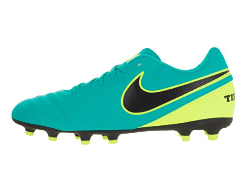 Nike Tiempo Rio III FG, Chaussures de Foot Homme Verde (Clear Jade / Black-Volt)