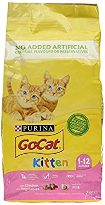 PURINA® GO-CAT® KITTEN with Chicken, with Milk and with Vegetables dry cat food 4 x 2kg (8 KG) from Nestle Purina