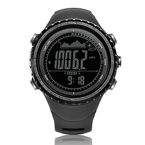 Pneumatische Geräte (L.HPT Herrenuhr für intelligente Uhr, Outdoor-Sportuhr für Profis, pneumatischer Höhenmesser, Temperatursensor, Timer, Kompass, Weltzeituhr,Black)