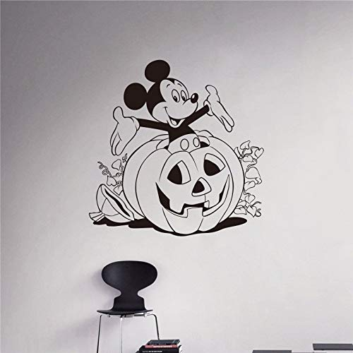 Wandaufkleber, Kreative Diy Schlafzimmer Niedliche Maus Halloween Wandaufkleber Für Kinderzimmer Mickey Dekoration Wandaufkleber 58X58 Cm