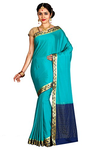 Arars Women's Crepe Saree With Blouse Piece (Crp02 Rama_Rama)