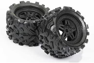 Pro-line Big Joe 40 Series Mounted On Tech 5 Black Wheels | Formes élégantes