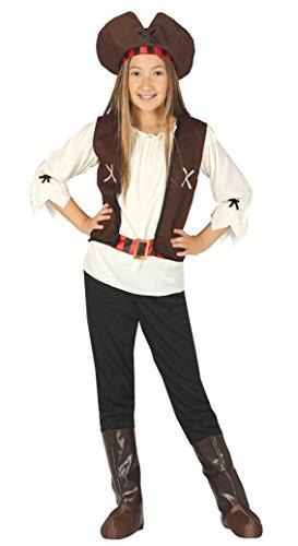 Piraten Büchertag Karneval Kostüm Kleid Outfit 5-12 - Braun, 7-9 years (7 Seas Piraten Kostüme)