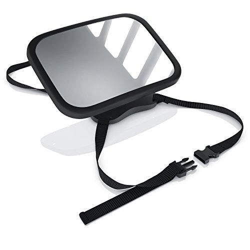 Preisvergleich Produktbild CSL - Rücksitzspiegel für Babys 23x16cm | Auto-Rückspiegel für die Babyschale | Sicherheitsspiegel | Verstellbare Träger / universale Form | splittersicher | Hoch- oder Querformat