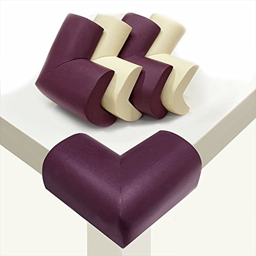 Little Sporter Mousse Protection des Bords Baby eckenschützer L Forme de bords de table d'angle Coussin très épais coin de protection Meubles ckschützer pour bébés et enfants Lot de 16 Marron et Blanc