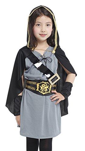 DEMU Halloween Kostüm Mädchen Ritter Umhang Cosplay Karneval Party (Ritter Mädchen Kostüme)