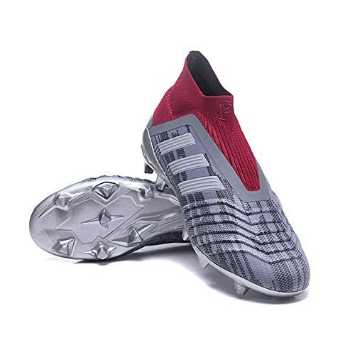 GAOXP Scarpe da Calcio da Uomo High Top Spikes Scarpe da Calcio Scarpe da Allenamento per Ragazzi Scarpe da Calcio per Esterno Sneakers Scarpe da Rugby per Bambini Junior,5,36