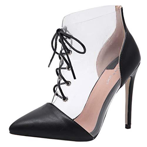 ABsolute Zapatos Sandalias de Mujer con Tacones, Cordones...