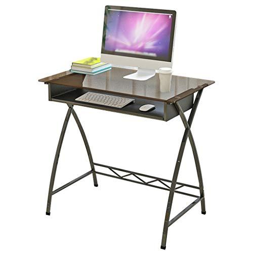 Glas-büro-computer-schreibtisch (GXJ- table Chang-dq Home Computer Schreibtisch, Schlafzimmer Wohnzimmer Studie Laptop Tisch Büro Klassenzimmer Balkon Schreibtisch Gehärtetes Glas Multifunktionsgerät Haushaltstisch)