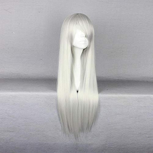 WIG MINE Final Fantasy Sephiroth Menma COS Perücke langen geraden Rand weiße Perücke Cosplay