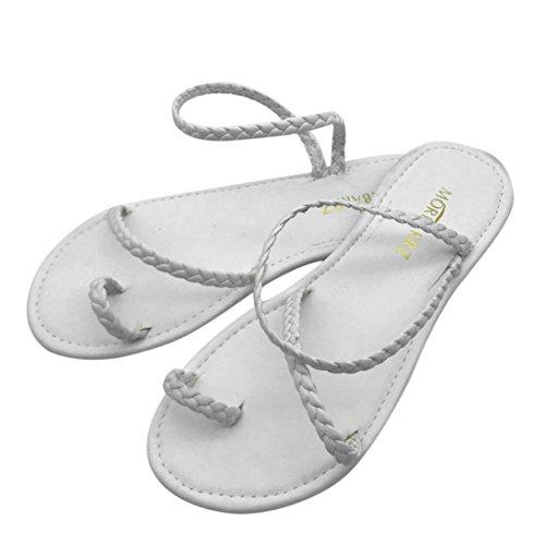 Beikoard -30% promozione della moda sandali donna taco sandali infradito da donna con cinturino basso (bianca, 39)