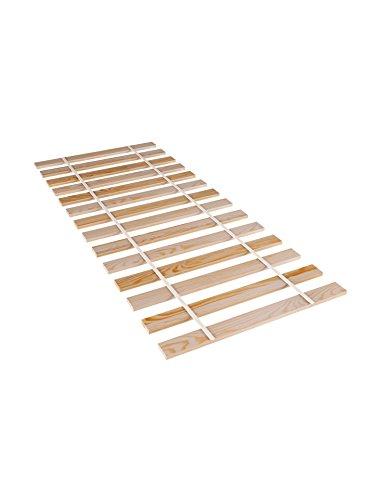 Doghe in legno avvolgibili di pino 90x 200, 140x 200, 80x 200, 90x 200, stabile e non regolabile, adatto a tutti i materassi e letti per bambini, Legno, naturale, 90x200