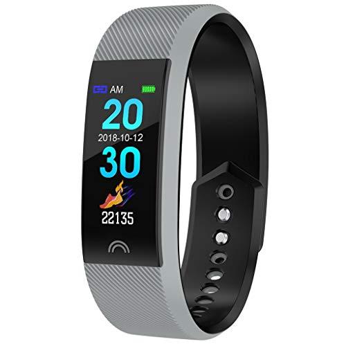 Waotier Fitnessarmband Uhr Pulsmesser Für Männer Frauen Sportmodus Schlafmonitor Herzfrequenzmonitor Fernsteurung Sportuhr Smartwatch Für IOS Android Kalorienzähler Schrittzähler (Grau)