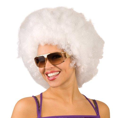XL Afroperücke Afro Clown Perücke weiß