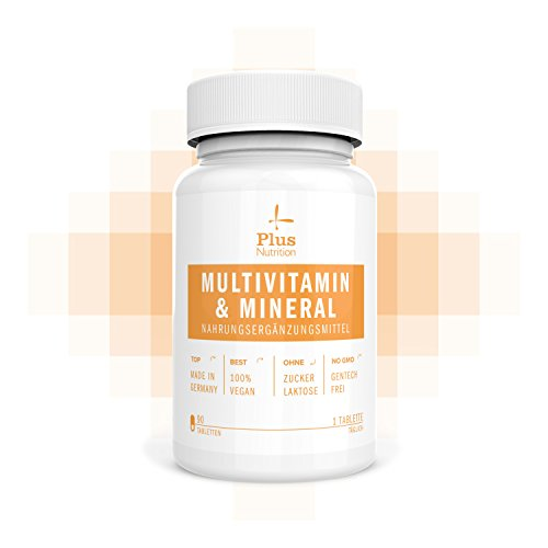 Multivitamin Tablette Hochdosiert ⛨ Multivitamin Kapseln Hochdosiert ⛨ 100% Vegan I Made in Germany I Gentechnikfrei, Laktosefrei, Zuckerfrei I Unterstützung für Körper und Gesundheit I Von Plus