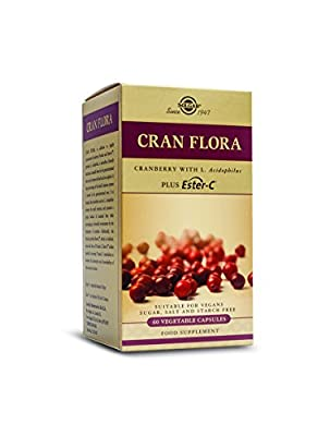 Solgar Cran Flora Cranberry Vegetable Capsules - Pack of 60 by Solgar